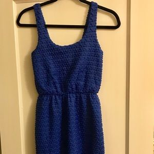 Maude Blue Textured Dress